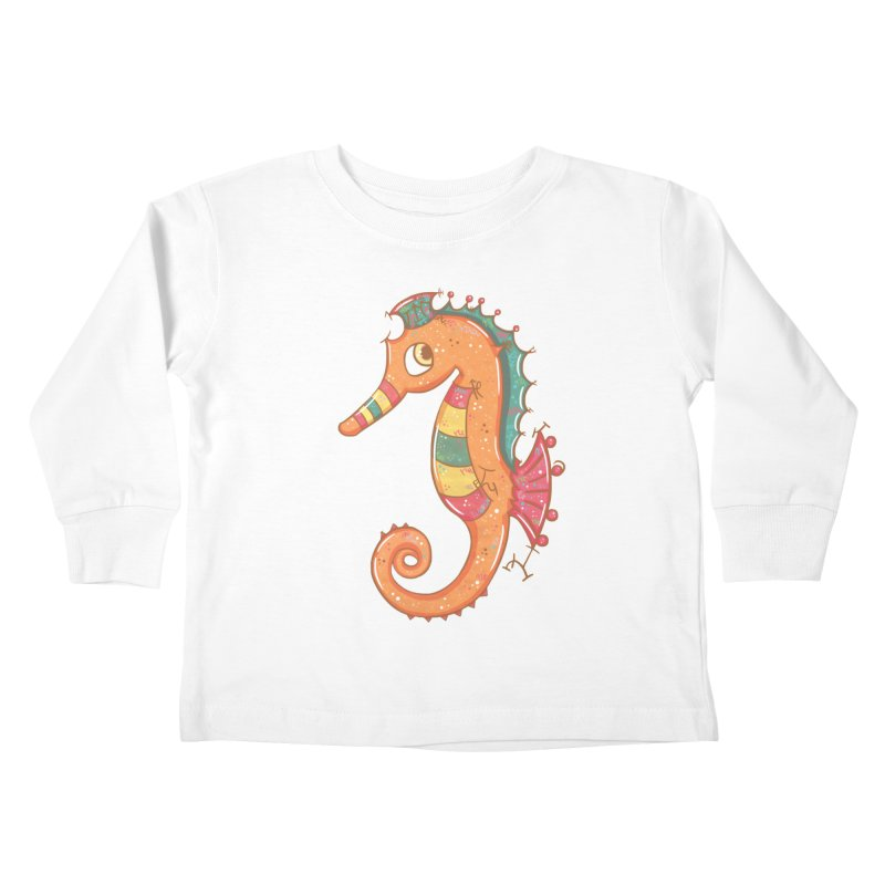 Sparkly Little Seahorse Kids Toddler Longsleeve T-Shirt by VanillaKirsty's Artist Shop