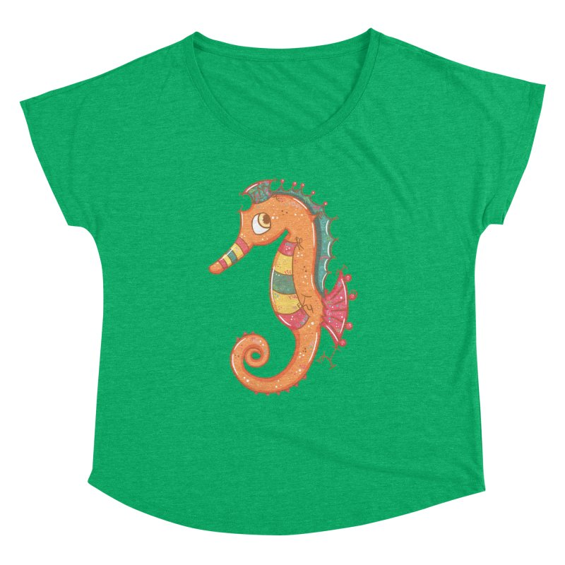 Sparkly Little Seahorse Women's Dolman by VanillaKirsty's Artist Shop