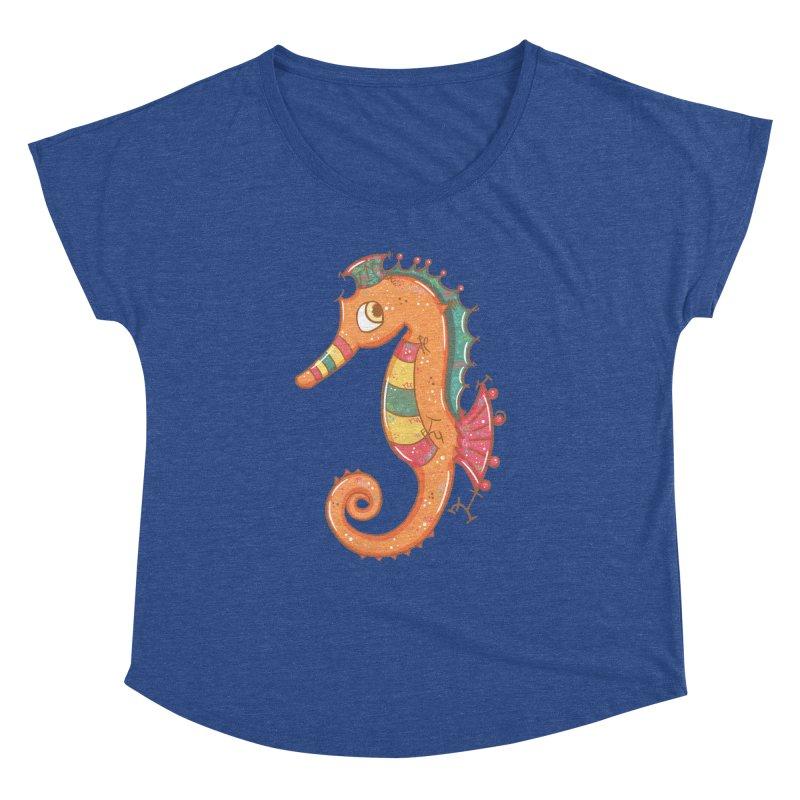 Sparkly Little Seahorse Women's Dolman by VanillaKirsty's Artist Shop