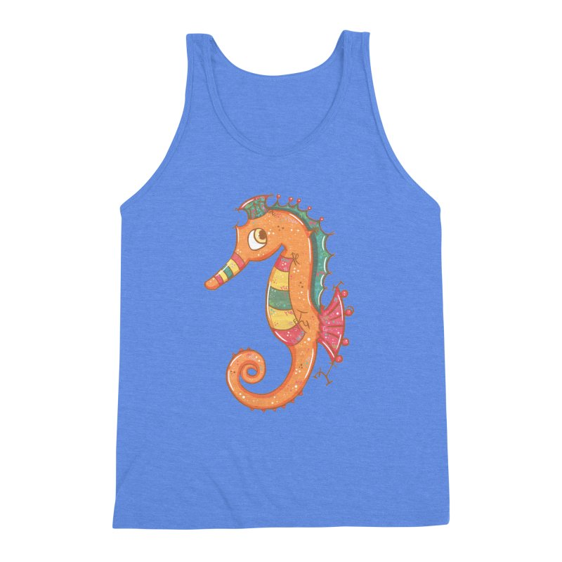 Sparkly Little Seahorse Men's Triblend Tank by VanillaKirsty's Artist Shop