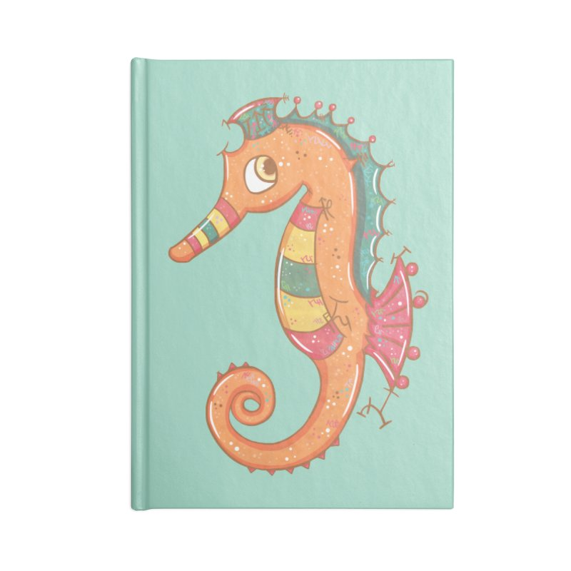 Sparkly Little Seahorse Accessories Notebook by VanillaKirsty's Artist Shop