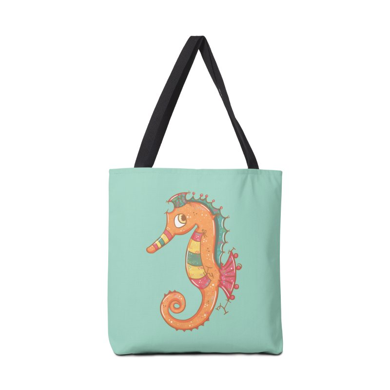 Sparkly Little Seahorse Accessories Bag by VanillaKirsty's Artist Shop