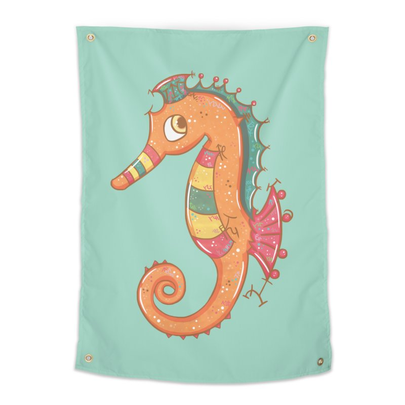 Sparkly Little Seahorse Home Tapestry by VanillaKirsty's Artist Shop