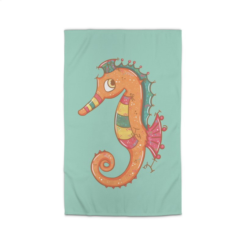 Sparkly Little Seahorse Home Rug by VanillaKirsty's Artist Shop
