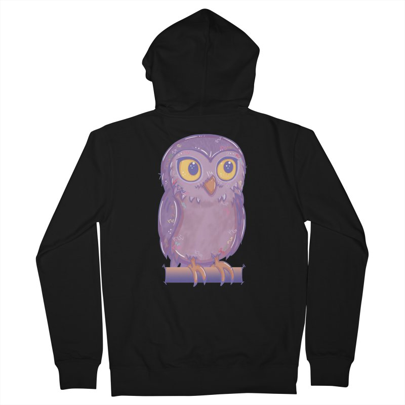 Enchanting Little Owl Women's Zip-Up Hoody by VanillaKirsty's Artist Shop