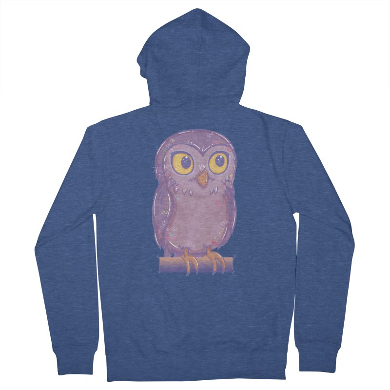 Enchanting Little Owl Men's Zip-Up Hoody by VanillaKirsty's Artist Shop