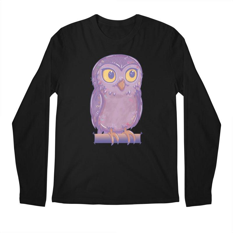 Enchanting Little Owl Men's Longsleeve T-Shirt by VanillaKirsty's Artist Shop