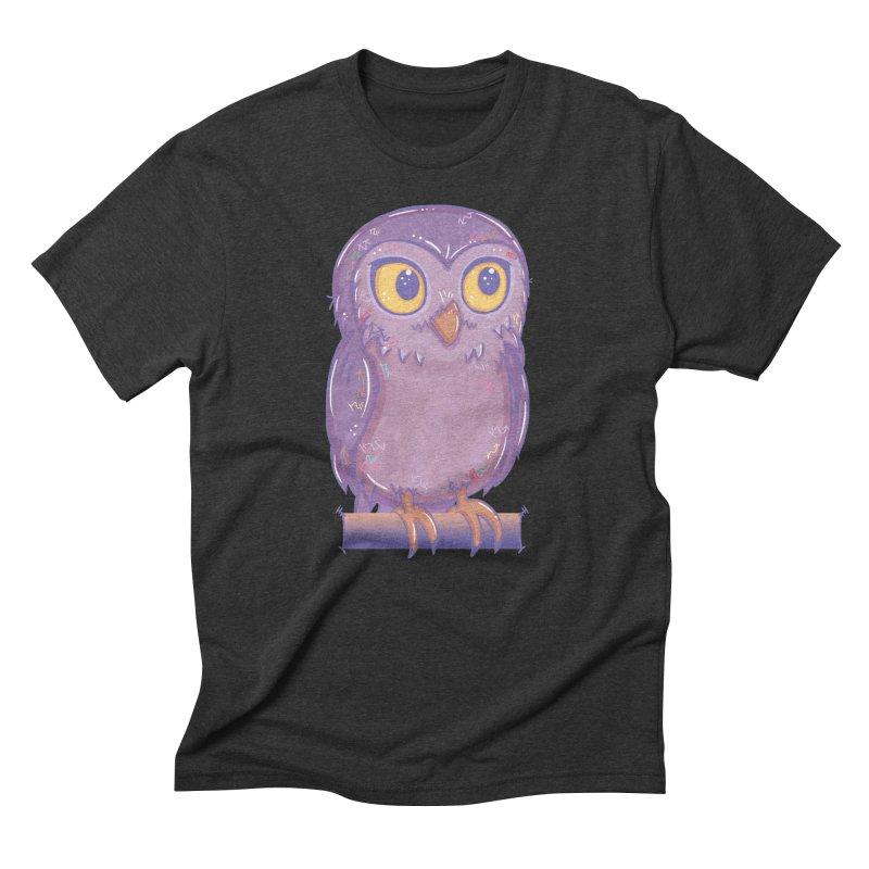 Enchanting Little Owl Men's Triblend T-shirt by VanillaKirsty's Artist Shop