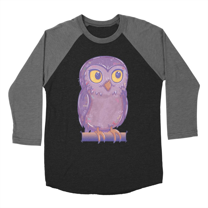 Enchanting Little Owl Women's Baseball Triblend T-Shirt by VanillaKirsty's Artist Shop