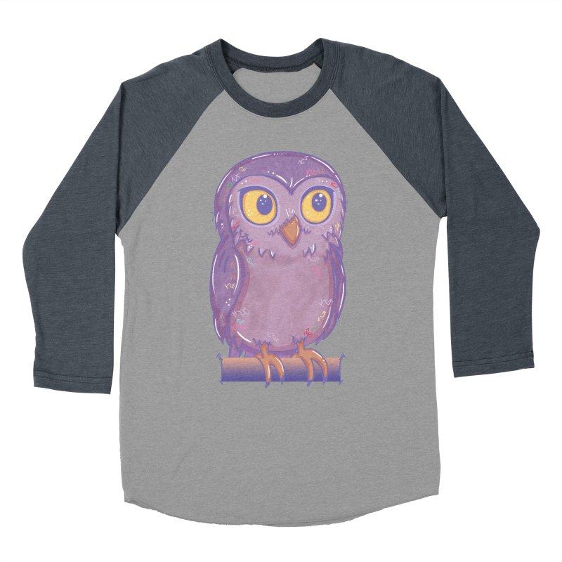 Enchanting Little Owl Men's Baseball Triblend T-Shirt by VanillaKirsty's Artist Shop