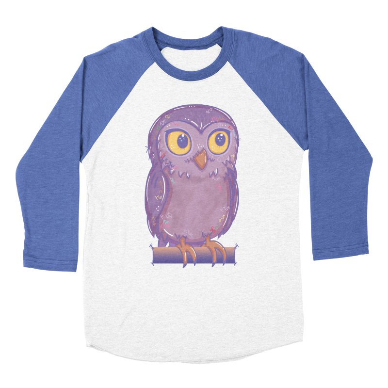 Enchanting Little Owl Men's Baseball Triblend T-Shirt by VanillaKirsty's Artist Shop