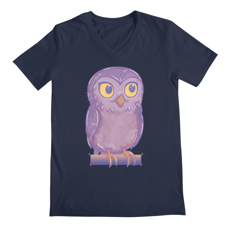 Enchanting Little Owl Men's V-Neck by VanillaKirsty's Artist Shop