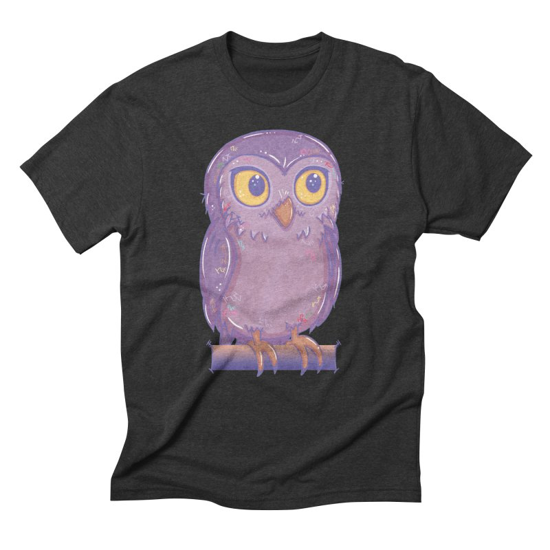 Enchanting Little Owl Men's Triblend T-shirt by VanillaKirsty's Artist Shop