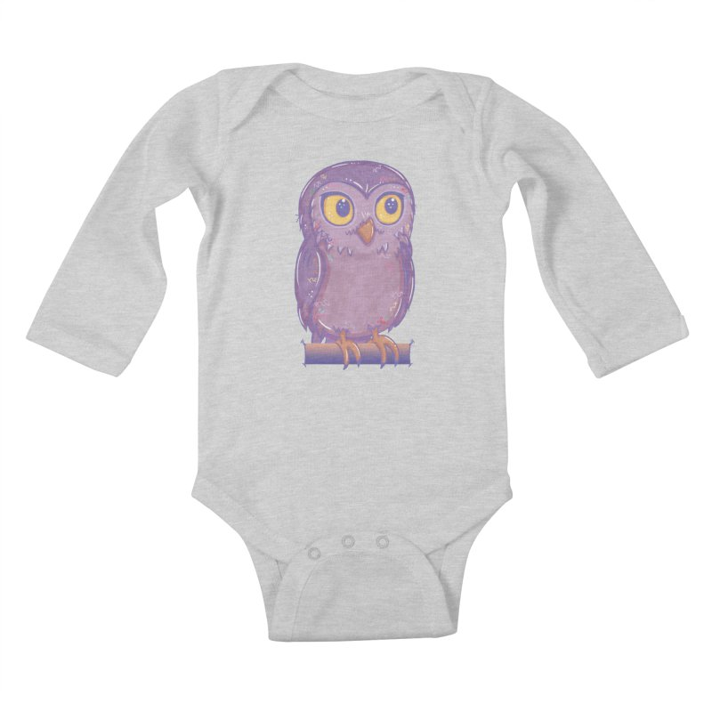 Enchanting Little Owl Kids Baby Longsleeve Bodysuit by VanillaKirsty's Artist Shop