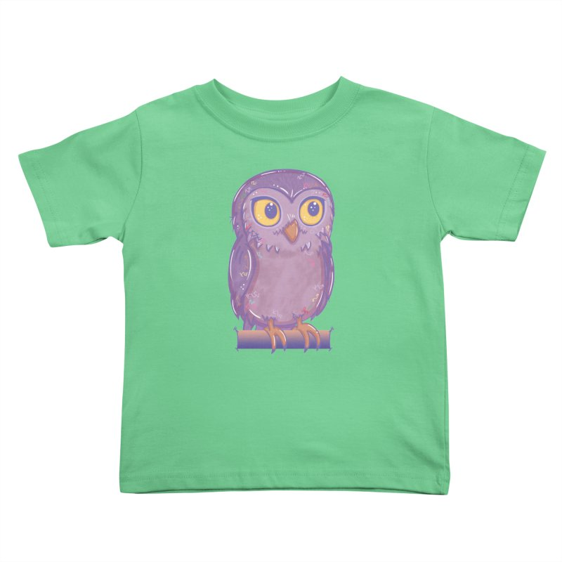 Enchanting Little Owl Kids Toddler T-Shirt by VanillaKirsty's Artist Shop