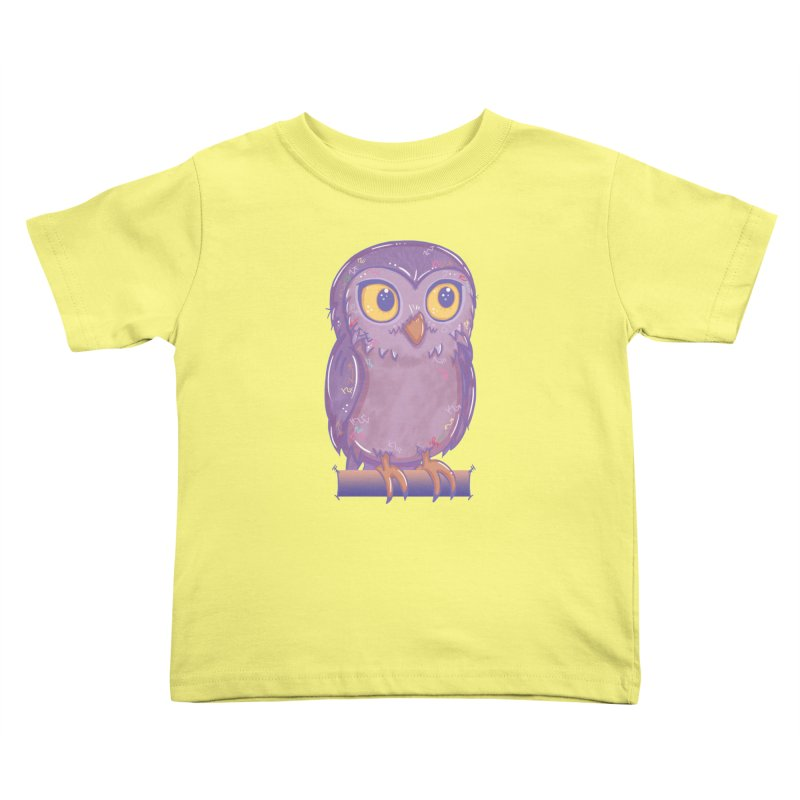 Enchanting Little Owl Kids Toddler T-Shirt by VanillaKirsty's Artist Shop