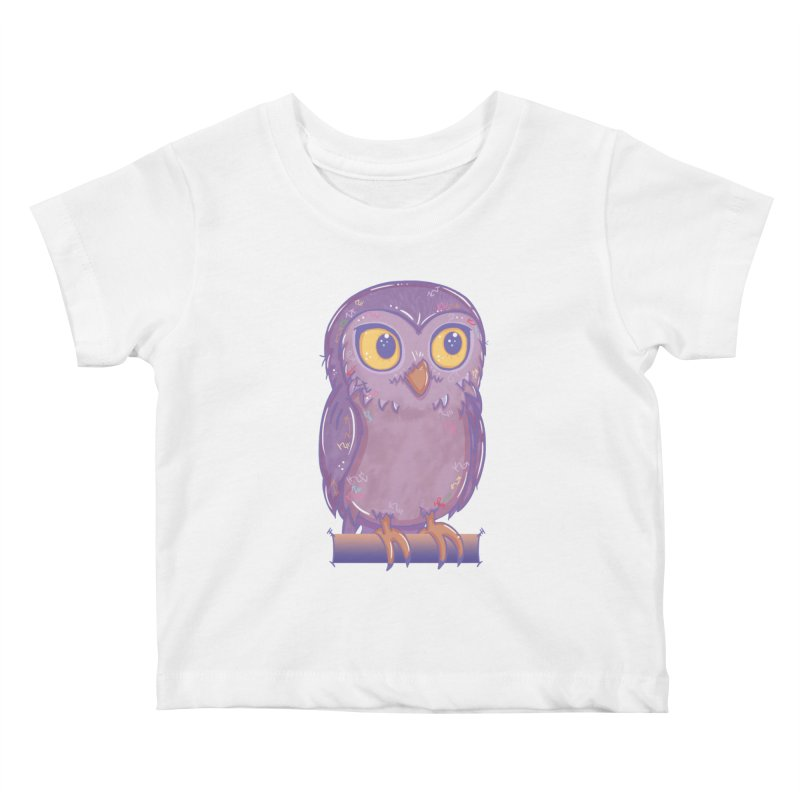 Enchanting Little Owl Kids Baby T-Shirt by VanillaKirsty's Artist Shop