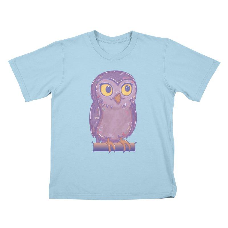 Enchanting Little Owl Kids T-Shirt by VanillaKirsty's Artist Shop