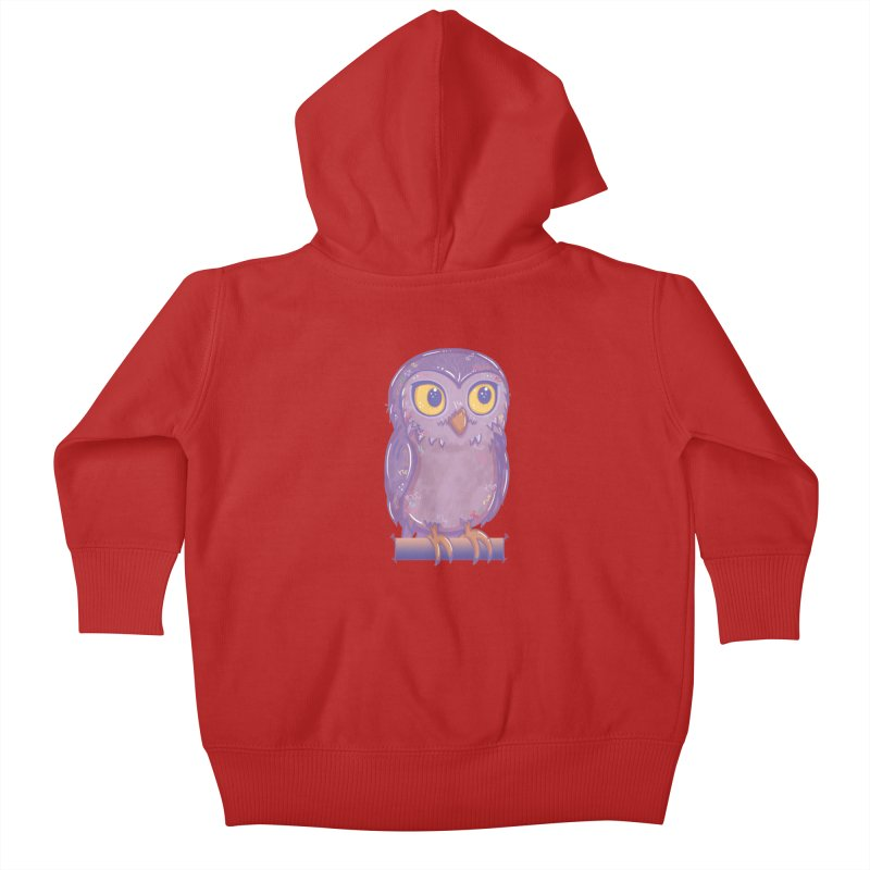 Enchanting Little Owl Kids Baby Zip-Up Hoody by VanillaKirsty's Artist Shop