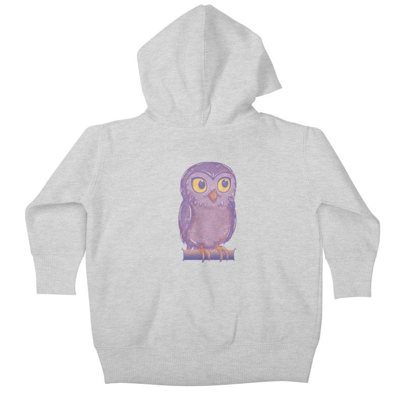 Enchanting Little Owl Kids Baby Zip-Up Hoody by VanillaKirsty's Artist Shop