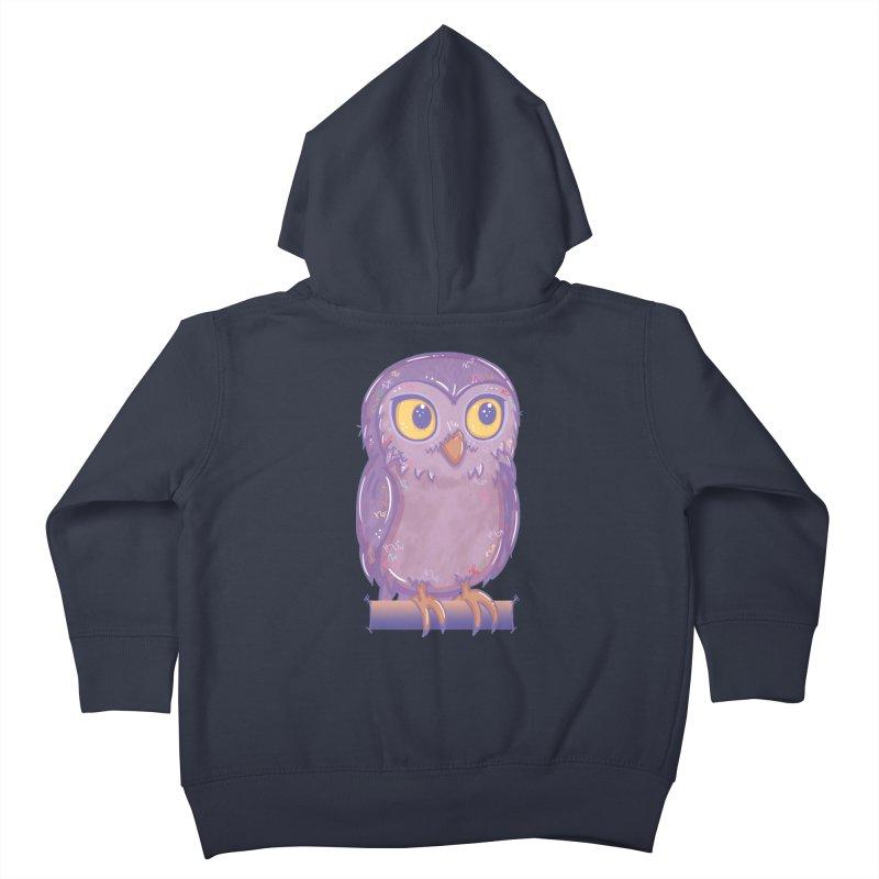 Enchanting Little Owl Kids Toddler Zip-Up Hoody by VanillaKirsty's Artist Shop