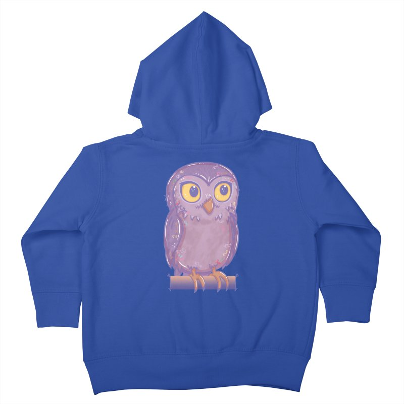 Enchanting Little Owl Kids Toddler Zip-Up Hoody by VanillaKirsty's Artist Shop