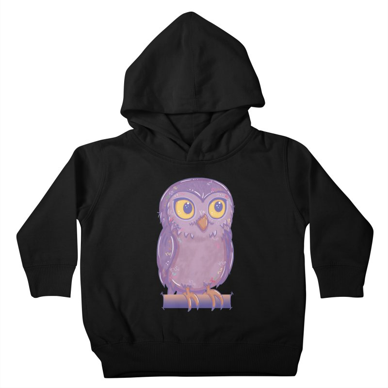 Enchanting Little Owl Kids Toddler Pullover Hoody by VanillaKirsty's Artist Shop