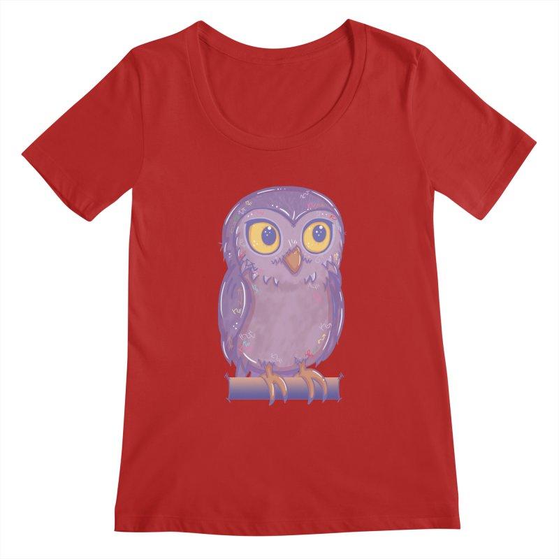 Enchanting Little Owl Women's Scoopneck by VanillaKirsty's Artist Shop