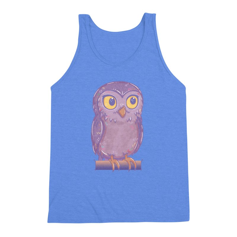 Enchanting Little Owl Men's Triblend Tank by VanillaKirsty's Artist Shop