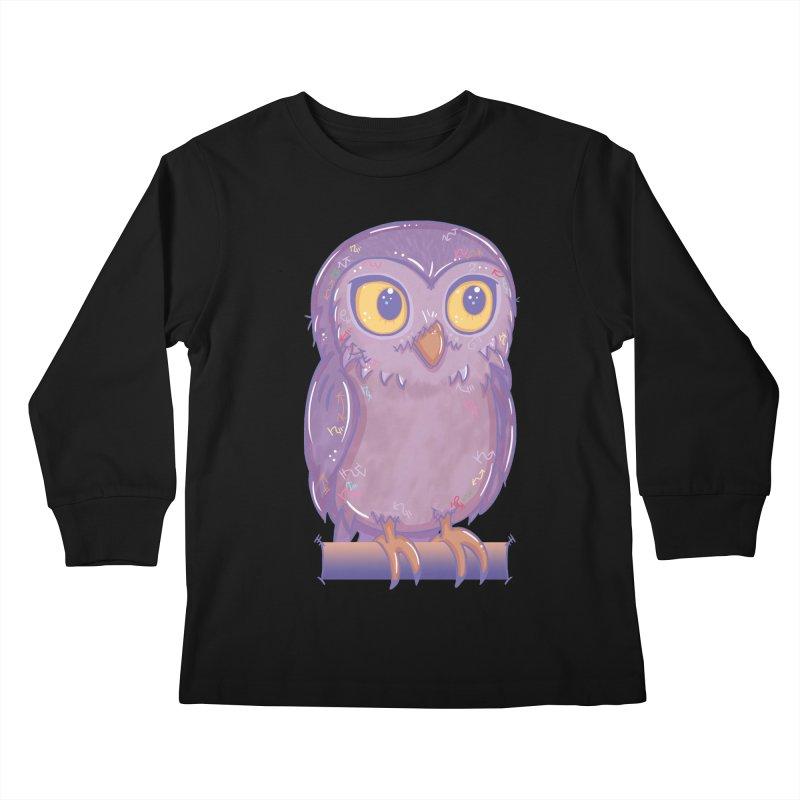 Enchanting Little Owl Kids Longsleeve T-Shirt by VanillaKirsty's Artist Shop