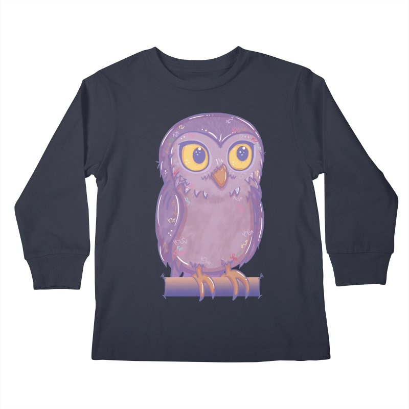Enchanting Little Owl Kids Longsleeve T-Shirt by VanillaKirsty's Artist Shop