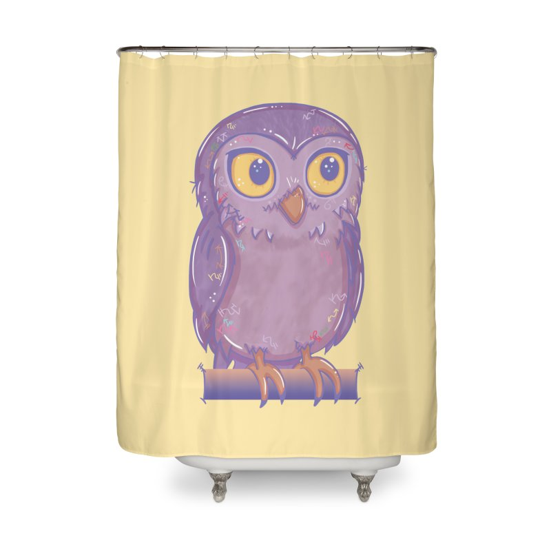 Enchanting Little Owl Home Shower Curtain by VanillaKirsty's Artist Shop