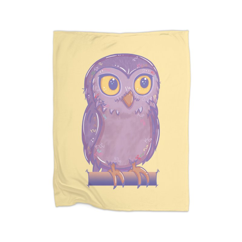 Enchanting Little Owl Home Blanket by VanillaKirsty's Artist Shop