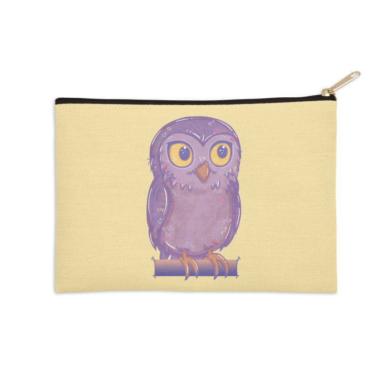 Enchanting Little Owl Accessories Zip Pouch by VanillaKirsty's Artist Shop