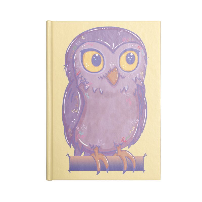Enchanting Little Owl Accessories Notebook by VanillaKirsty's Artist Shop