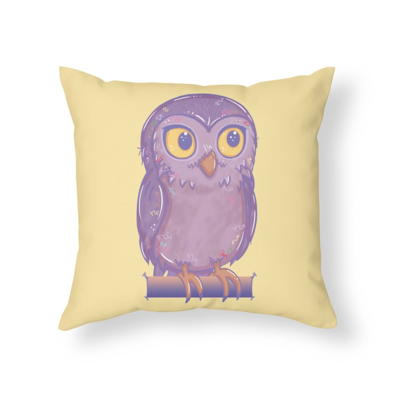 Enchanting Little Owl Home Throw Pillow by VanillaKirsty's Artist Shop