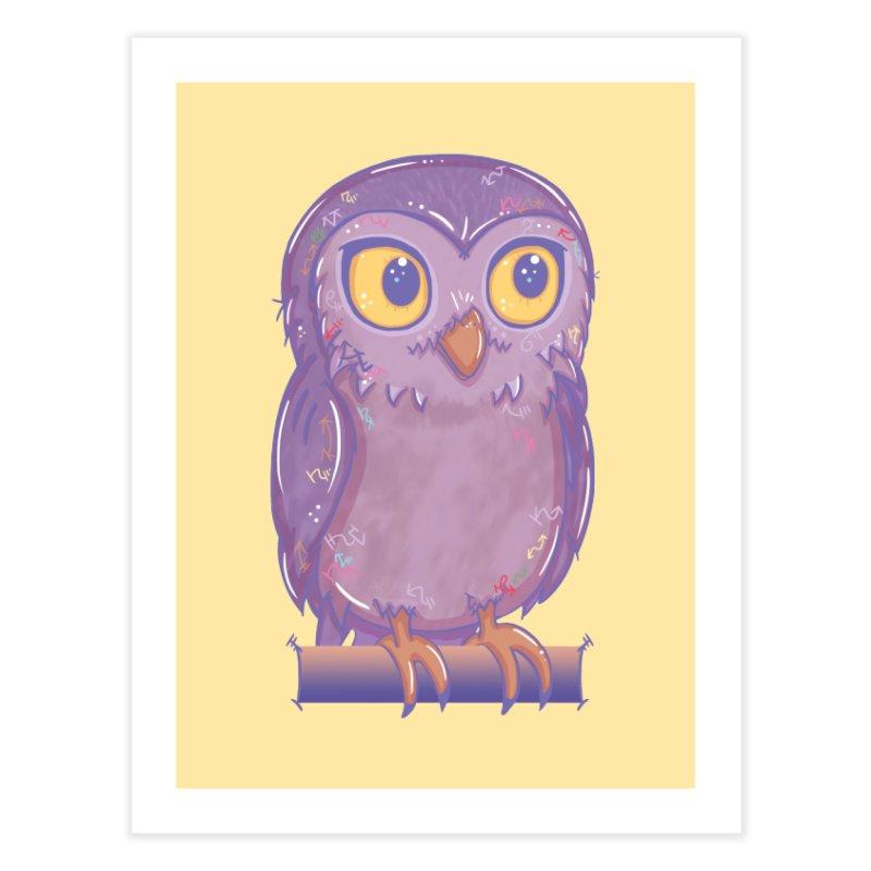 Enchanting Little Owl Home Fine Art Print by VanillaKirsty's Artist Shop