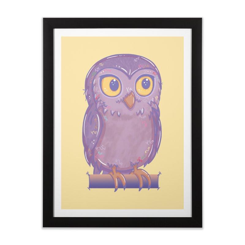 Enchanting Little Owl Home Framed Fine Art Print by VanillaKirsty's Artist Shop