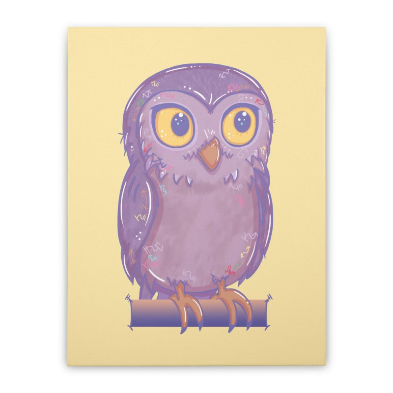 Enchanting Little Owl Home Stretched Canvas by VanillaKirsty's Artist Shop