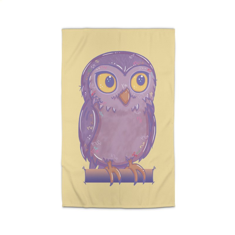 Enchanting Little Owl Home Rug by VanillaKirsty's Artist Shop