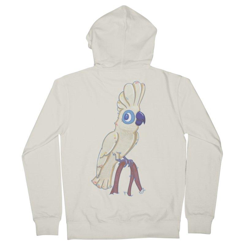 Clever Little Cockatoo  Women's Zip-Up Hoody by VanillaKirsty's Artist Shop