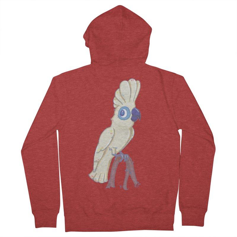 Clever Little Cockatoo  Men's Zip-Up Hoody by VanillaKirsty's Artist Shop