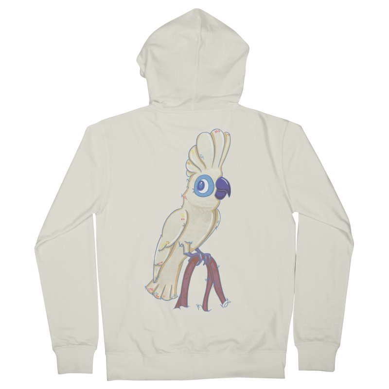 Clever Little Cockatoo  Men's Zip-Up Hoody by VanillaKirsty's Artist Shop