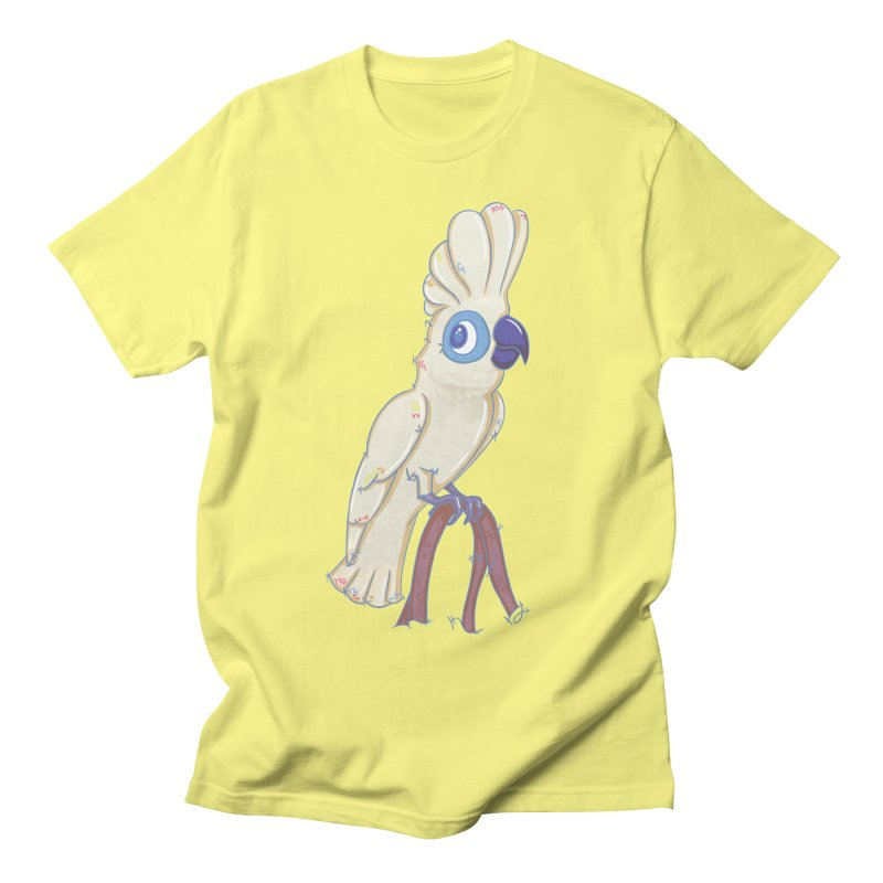 Clever Little Cockatoo  Men's T-shirt by VanillaKirsty's Artist Shop