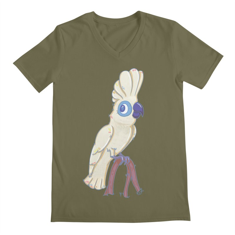 Clever Little Cockatoo  Men's V-Neck by VanillaKirsty's Artist Shop