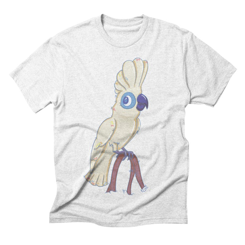 Clever Little Cockatoo  Men's Triblend T-shirt by VanillaKirsty's Artist Shop