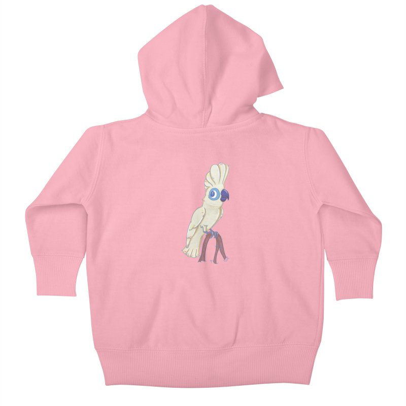 Clever Little Cockatoo  Kids Baby Zip-Up Hoody by VanillaKirsty's Artist Shop