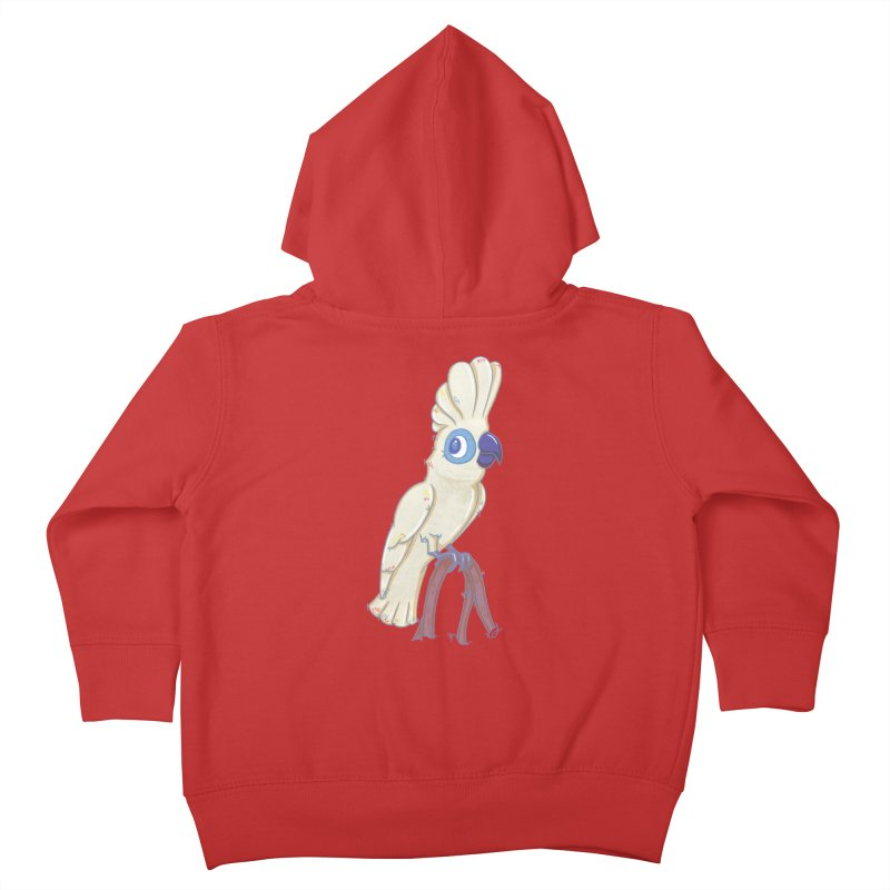 Clever Little Cockatoo  Kids Toddler Zip-Up Hoody by VanillaKirsty's Artist Shop