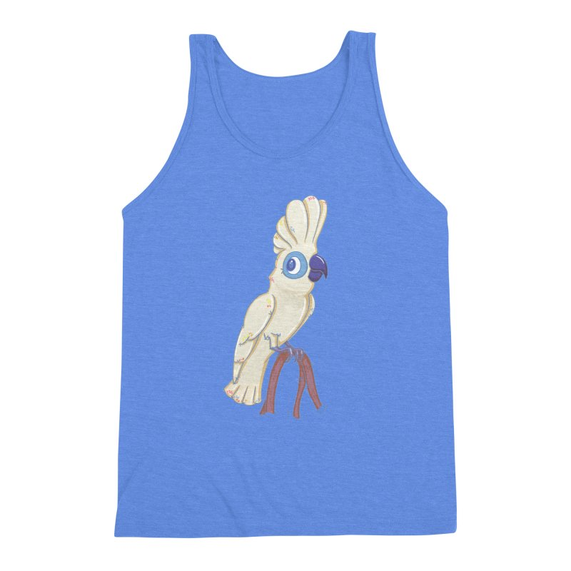 Clever Little Cockatoo  Men's Triblend Tank by VanillaKirsty's Artist Shop