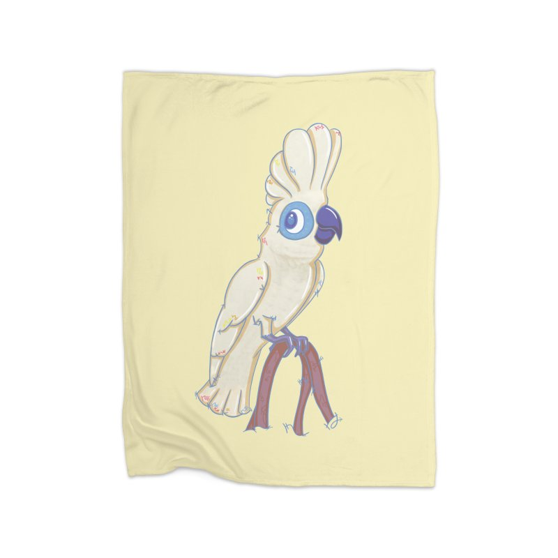Clever Little Cockatoo  Home Blanket by VanillaKirsty's Artist Shop